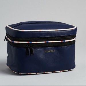 Yumi Kim blue navy makeup bag